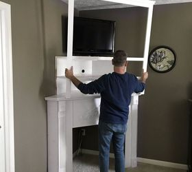 DIY Fireplace Mantel: Creating Usable Corner Space   Hometalk