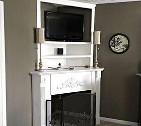 Diy Fireplace Mantel Creating Usable Corner Space, Fireplaces Mantels ... Part 36