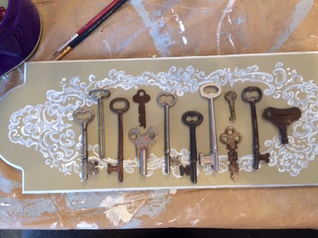 Antique Keys Wall Decor
