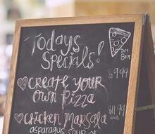 ways to re purpose your cabinet doors, doors, kitchen cabinets, kitchen design, Chalkboard Bistro Stand