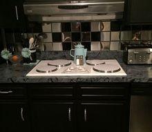 cheap way to cover ur ugly kitchen backsplash tile, kitchen backsplash, kitchen design