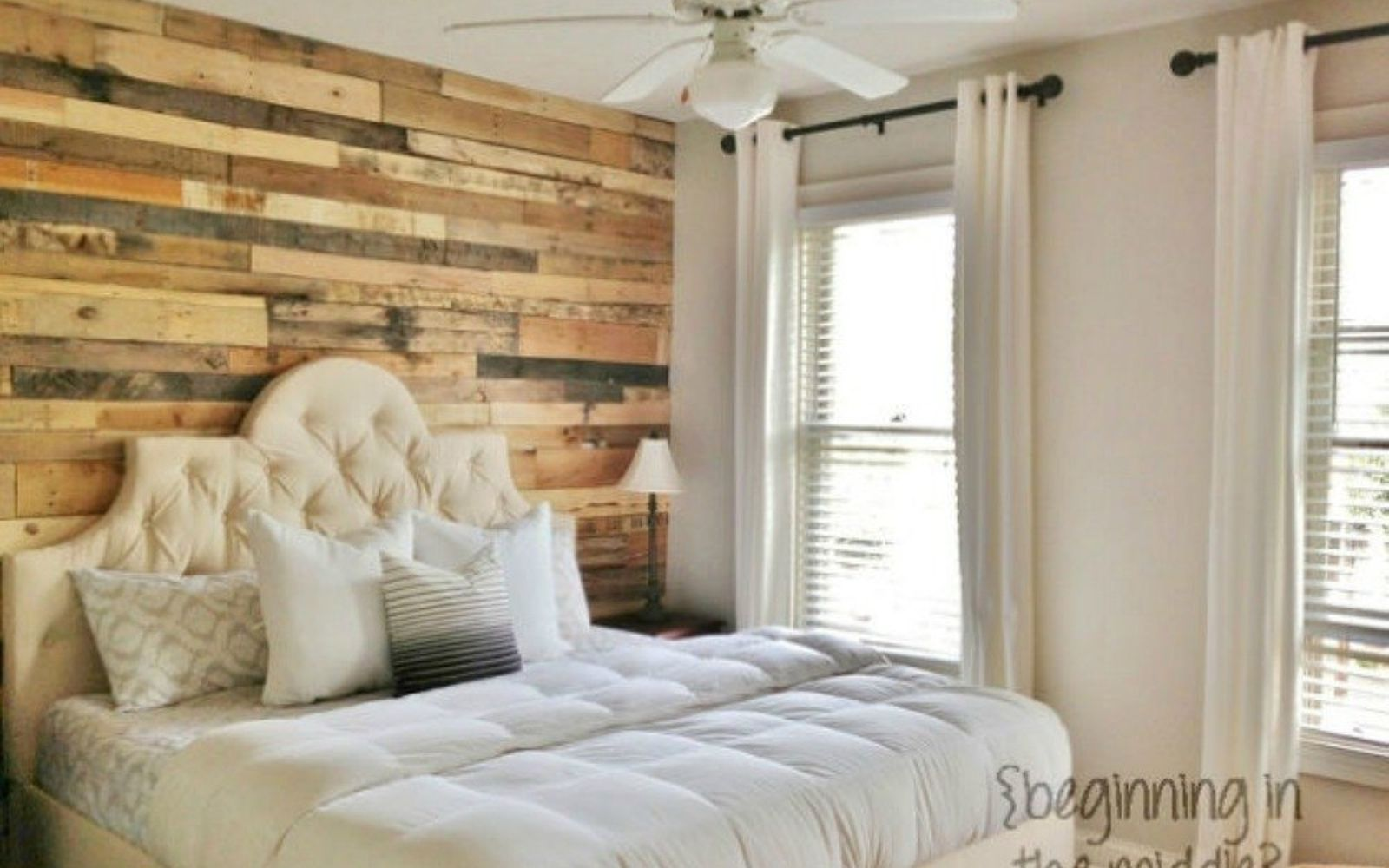 s 13 stylish ideas you ll want to steal for your boring bedroom, bedroom ideas, Build a pallet accent wall