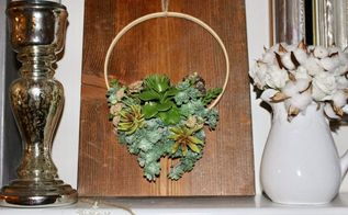 diy faux succulent embroidery hoop wreath our crafty mom, crafts, flowers, gardening, succulents, wreaths