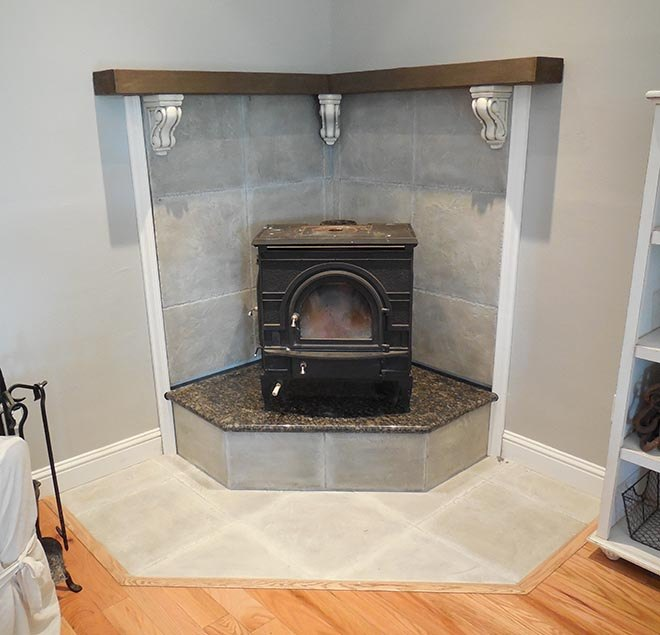 corner fireplace mantel makeover, fireplaces mantels - Corner Fireplace Mantel Makeover Hometalk
