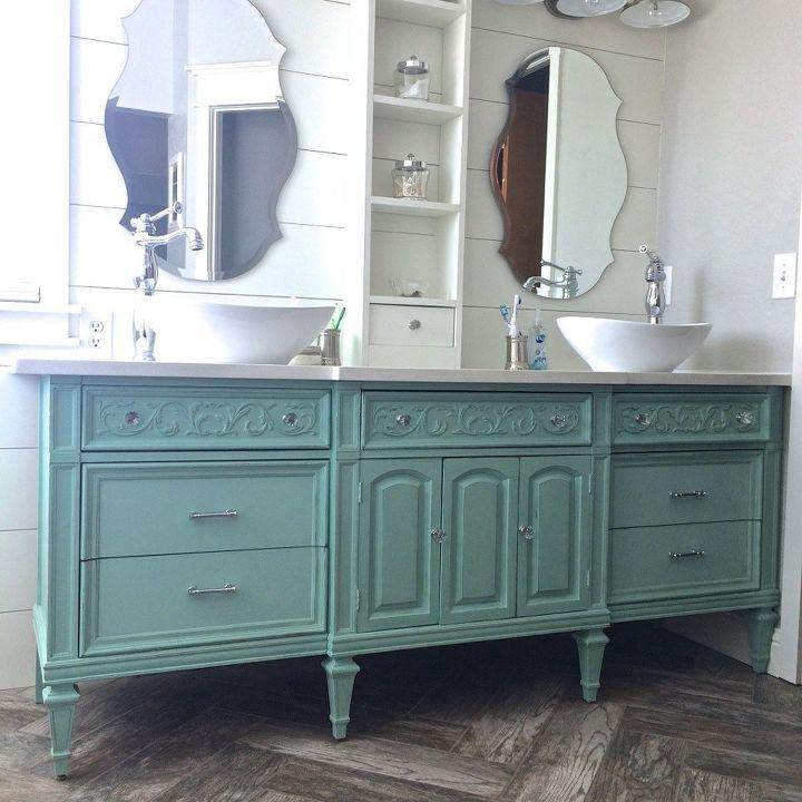 Dresser vanity hometalk for Unique dresser ideas