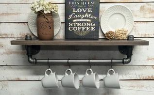 rustic farmhouse inspired shelf, shelving ideas, Rustic Farmhouse Shelf