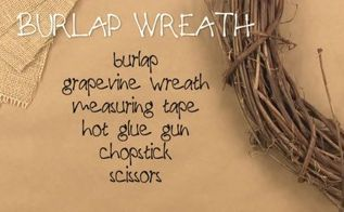 rustic burlap wreath, crafts, wreaths, Supplies