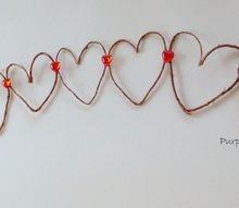 handcrafted rustic wire heart garland