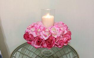 valentine s day candle holder centerpiece, seasonal holiday decor, valentines day ideas