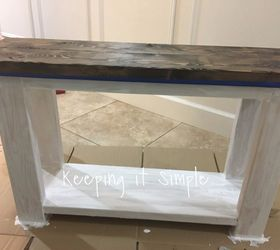 diy sofa side table painted furniture