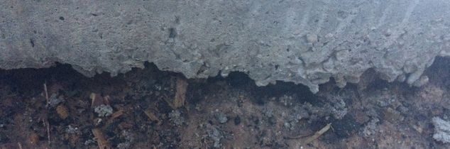 q why there is a gap between the concrete deck and the ground, concrete masonry, decks