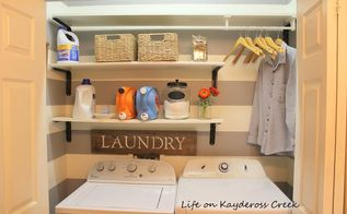 laundry room makeover for under 100, laundry rooms