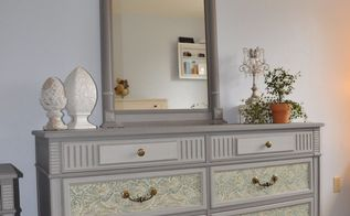 paisley dresser and side table, painted furniture
