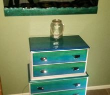 my sea chest make over, painted furniture