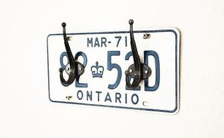 license plate coat rack