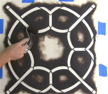 how to stencil the coco trellis wall pattern, gardening, how to