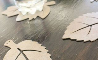 diy autumn leaf coasters, seasonal holiday decor