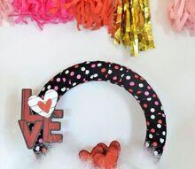 easy valentine s day wreath, crafts, seasonal holiday decor, valentines day ideas, wreaths