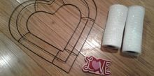 diy valentine s day mesh wreath all from the dollar store, crafts, seasonal holiday decor, valentines day ideas, wreaths
