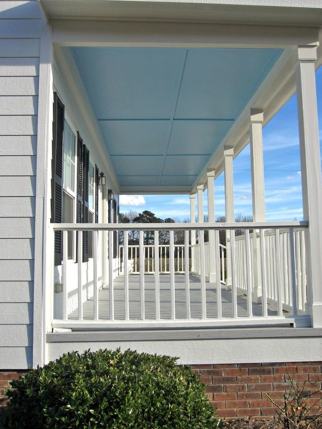 Blue Painted Porch Ceilings