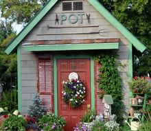 potting shed featured in she sheds a room of your own, gardening, outdoor living
