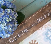 rustic and personalized wedding or valentines gift