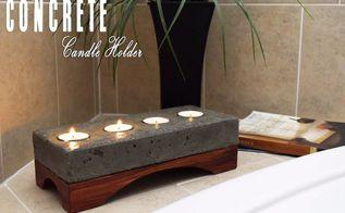 concrete candle holder, concrete masonry