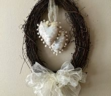 vintage style valentine s wreath, crafts, seasonal holiday decor, valentines day ideas, wreaths