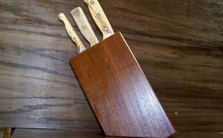 diy countertop knife block, countertops