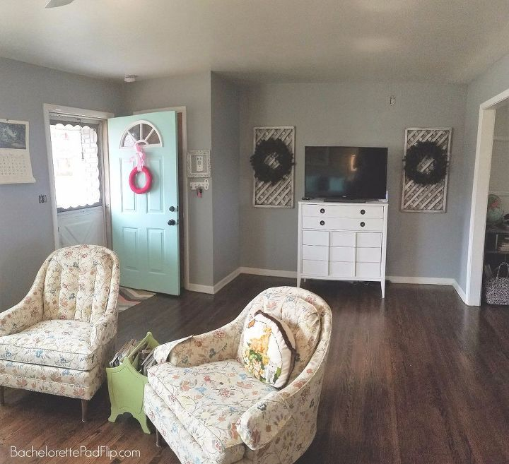 updating decorating a midcentury living room on a budget