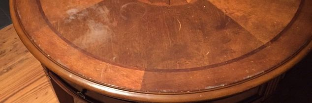 q refinishing a table top, painted furniture
