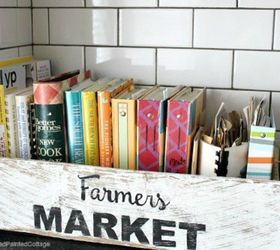 Grab An Old Wood Box For Your Cookbooks