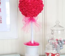 valentine felt topiary, gardening, seasonal holiday decor, valentines day ideas