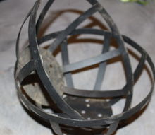 make a metal garden sphere planter from thrift store finds, gardening