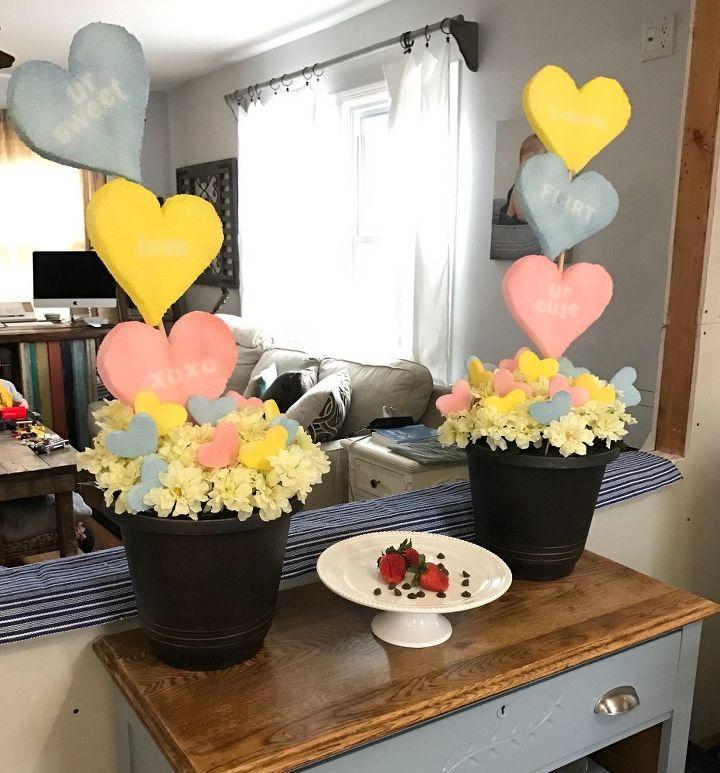 Conversation Heart Topiaries Valentine 39 S Day Decor