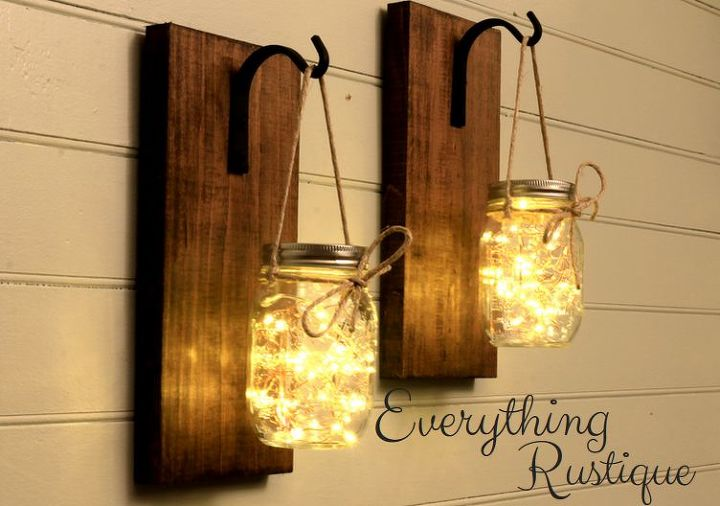 mason jar sconce beautiful mason jar decor mason jar lights hometalk. Black Bedroom Furniture Sets. Home Design Ideas