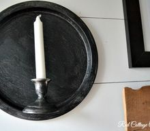 a christmas tray candle stick becomes farmhouse wall sconce