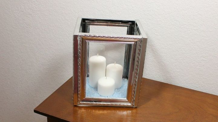 Dollar Tree Diy Picture Frame Candle Lantern Hometalk