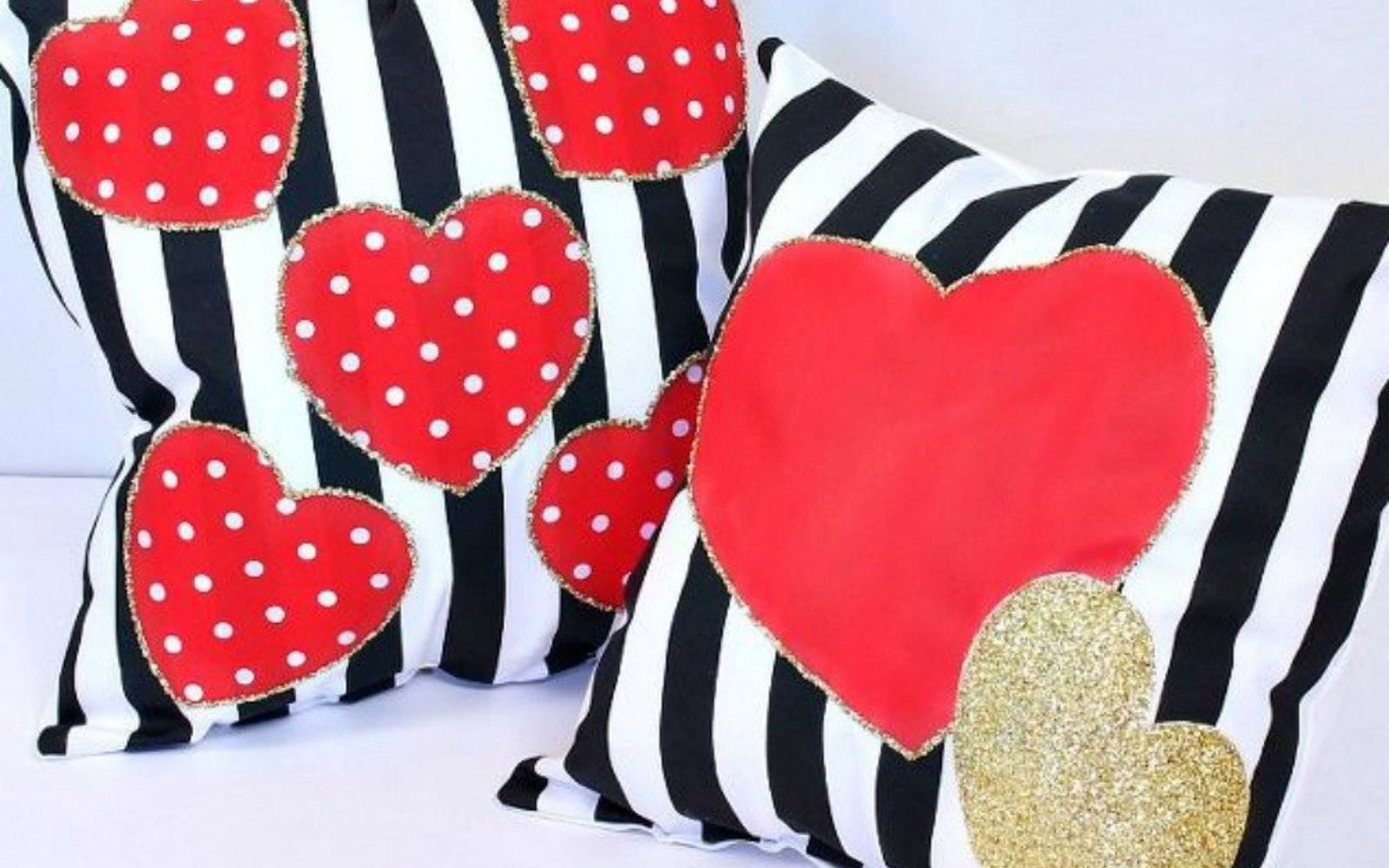 s 20 heartfelt valentine s day gifts for under 20, seasonal holiday decor, valentines day ideas, Decorate your throw pillows with hearts
