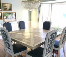 reclaimed dining table, painted furniture