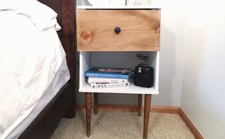 diy mid century nightstand, painted furniture