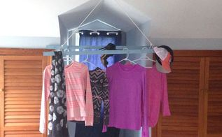 turn an old ladder into additional closet space, closet