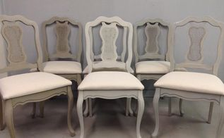 mismatched dining chair chalk painted furniture makeover, painted furniture