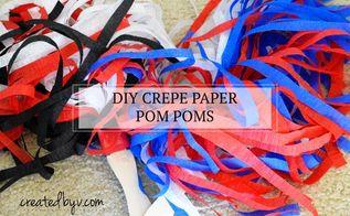 diy crepe paper pom poms