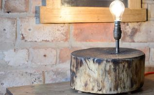 log lamp, lighting