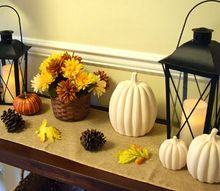 decorating a console table for the seasons, painted furniture