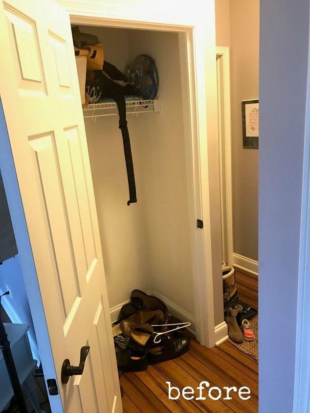 Turn Foyer Into Mudroom : Hall closet turned mini mudroom hometalk