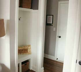 Hall Closet Turned Mini Mudroom, Closet, Foyer