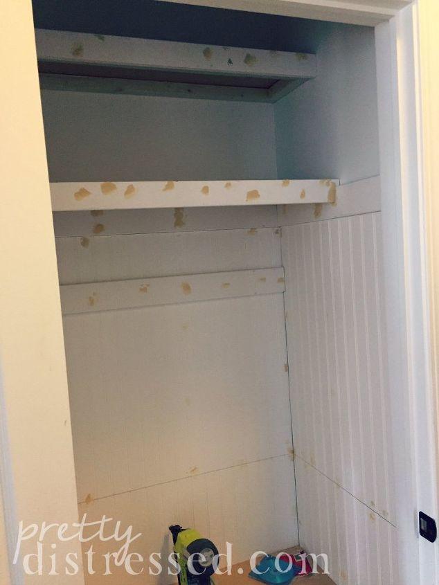 Foyer Closet Size : Hall closet turned mini mudroom hometalk