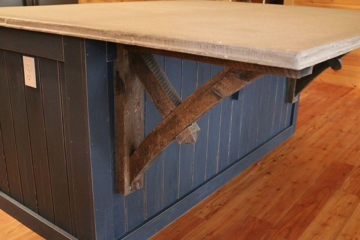 How to Make a Kitchen Island With a Concrete CounterTop ...
